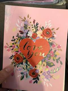 Floral gift card - love you