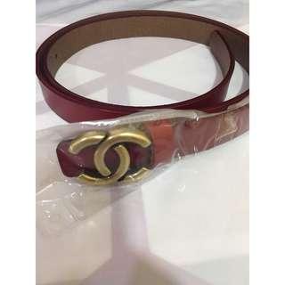 Chanel red belt