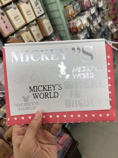 Mickey mouse gift card