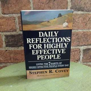 Highly Effective People Daily Reflection - Stephen R. Covey