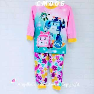 (Nett Price) Poli Car Pink Sleepwear CM006