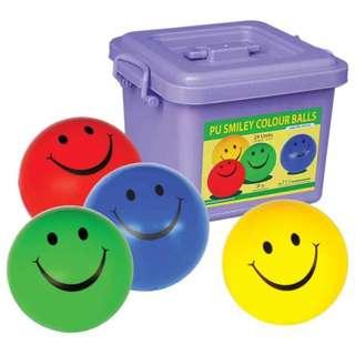 PU SMILEY COLOURS BALLS 24 UNITS (ITSP-012)