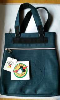 Vintage Disney Mickey Mouse and Co Air Green Canvas Bag