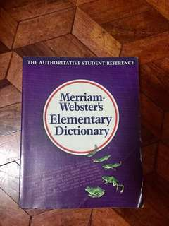 Elementary Dictionary: Merriam Webster