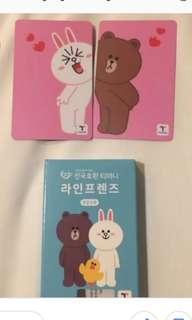 LINE FRIENDS Korea Transport T-Money Ez link card