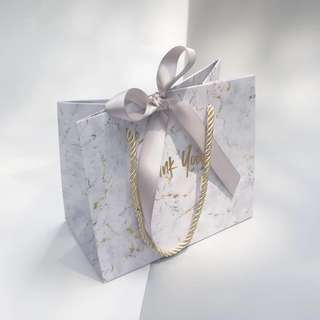 [PO] 'THANK YOU' MARBLE GIFT BAG (w/ handles)