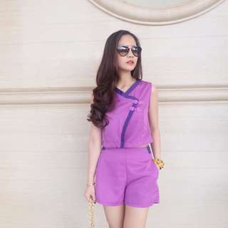Purple set top + pants