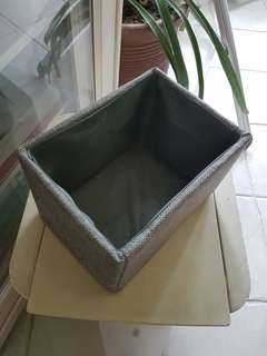 Simple cloth covered storage box ~ Grey