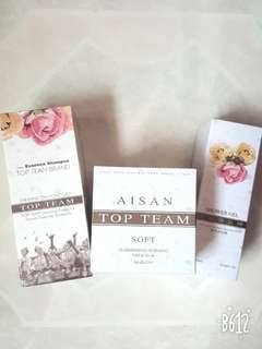 Aisan Top Team Shampoo & Hair Mask [Set] Free Aisan Showel Gel