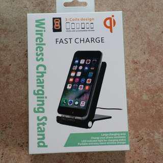 Wireless charge stand 全新無線充電座 3線圈 快速充電