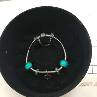 Pandora bracelet with charms set