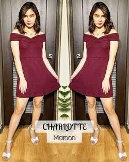 charlotte ruched of shoulder