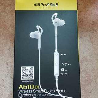 Awei A610BL Bluetooth headset 全新運動藍牙耳機