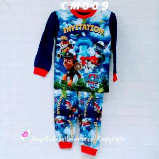 (Nett Price) Paw Patrol Blue Sleepwear CM009