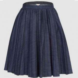 Gorman Sunray Denim Skirt size 6