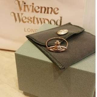 全新Vivienne Westwood經典LOGO戒指