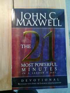 21 most powerful minute by john maxwell
