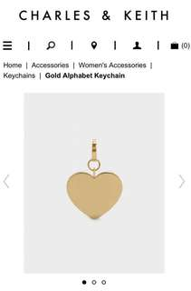 [REDUCED] Charles & Keith Gold Heart Keychain