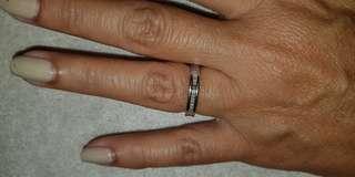 Baguette cut diamond eternity ring