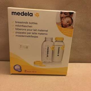 Brand new breast milk storage bottles