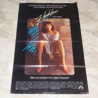 Flashdance Original US 1 Sheet Movie Poster 1983 Paramount Irene Cara What A Feeling!