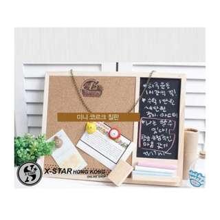 s138389 兩用軟木小黑板 掛鏈式留言板 軟木板 禮物 裝飾