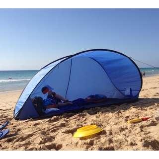 德國PORTWAVE 抗UV秒開秒收加大自動沙灘帳篷