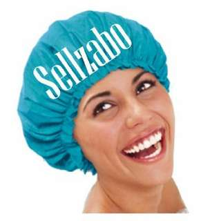 Blue Colour : Hair Cap : Head : Hats : Covers : Shower : Bath : Bathe : Wash : Mask : Colour : Dry : Protect : Protection : Waterproof : Reusable : Sellzabo