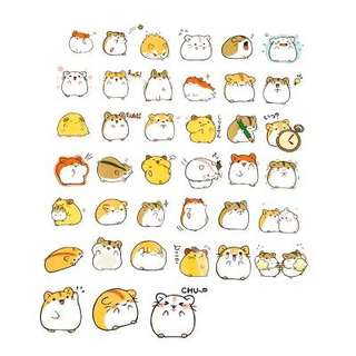 Cute Hamster Stickers