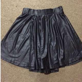 Bershka leather look a like skirt