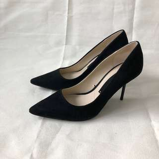 Zara Genuine Suede Pointed Stiletto Pumps