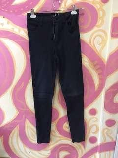 Warehouse black high waisted jeans
