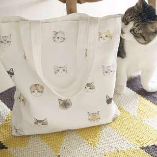 🐾😽貓貓拉鍊環保袋
