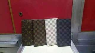 LV men's long wallet