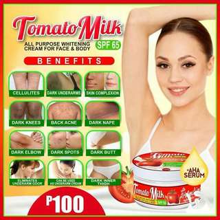 Tomato milk whitening cream