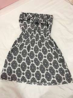 Black and white tube dress