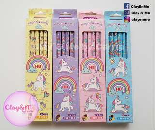 Magical Unicorn HB Pencils (Box of 12s)