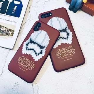 (W)手機殼IPhone6/7/8/plus/X : 馬賽格星球大戰全包邊磨砂軟殼
