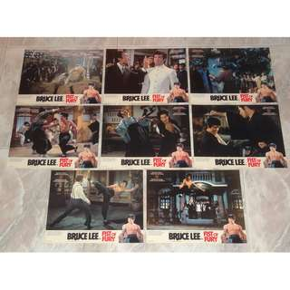 Bruce Lee 李小龍 Fist Of Fury 精武門 Original Lobby Card Set Hong Kong Golden Harvest 70's Unused Mint