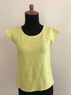 Zara yellow top