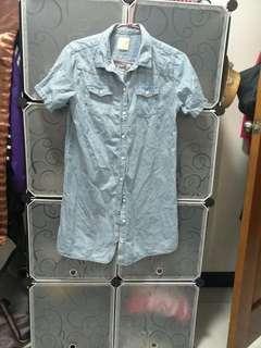 近全新lativ牛仔襯衫