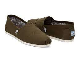 TOMS Tarmac Olive Canvas Women's Classic