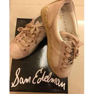 [Price Reduced!!!! 降價!!] 正品Sam Edelman 草編厚底鞋 Carleigh Platform Espadrille Sneakers