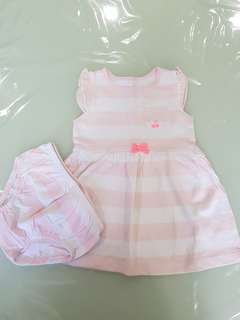Carter's baby girl dress set