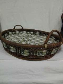 Oval Shallow Bamboo Tray