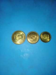 绝版1981年1角,2角,5角硬币