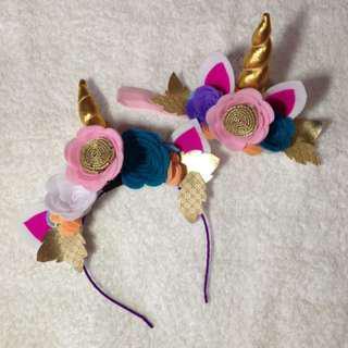 Unicorn headband set
