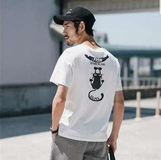 🐾🐈貓貓T恤 (白/黃色選購)