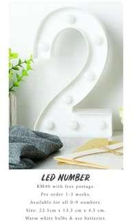 PREORDER Led Number
