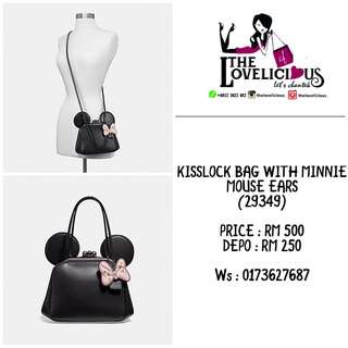 KISSLOCK BAG WITH MINNIE MOUSE EARS COACH F29349